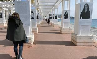 L'exposition «Libres et égales» de Sylvia Galmot a été inaugurée à Nice le 8 mars 2021 sur la promenade des Anglais