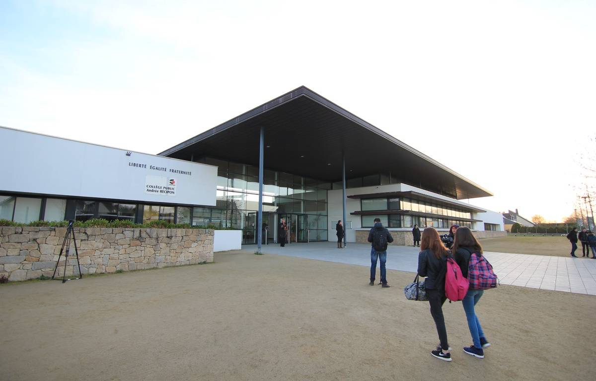 Le collège Andrée Récipon d'Orgères où un professeur d'EPS soupçonné de pédophilie a été suspendu. – C. Allain / APEI / 20 Minutes