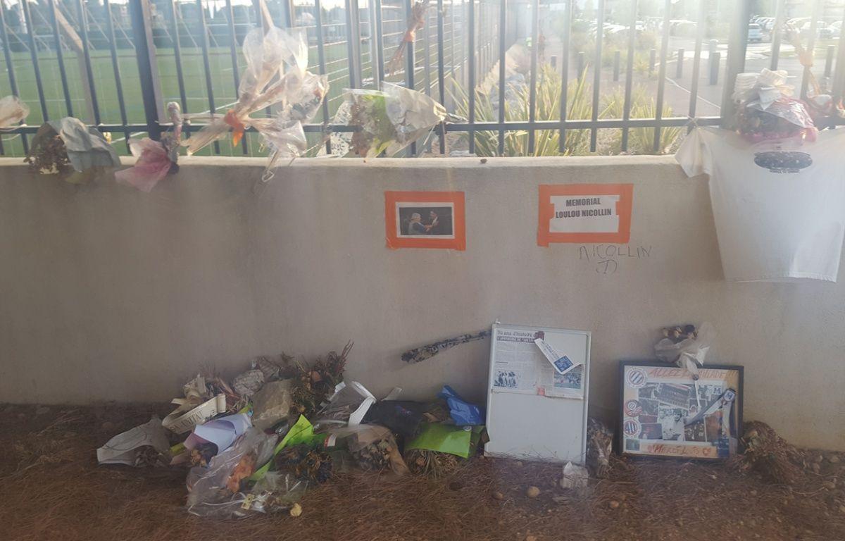 Le mémorial en hommage à Louis Nicollin, au domaine de Grammont. – Jérôme Diesnis / Agence Maxele Presse