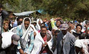 Obsèques le 17 décembre 2015 dans le village de Yubdo d'un homme tué lors de manifestations dans la région d'Oromia