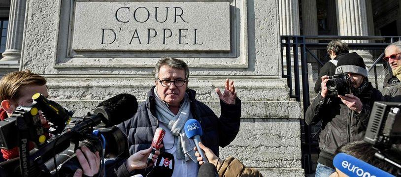 Paul François, le 6 février 2019 devant la cour d'appel de Lyon.