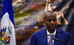 Le président d'Haïti, Jovenel Moise, lors d'une conférence de presse le 7 janvier 2020 (illustration)