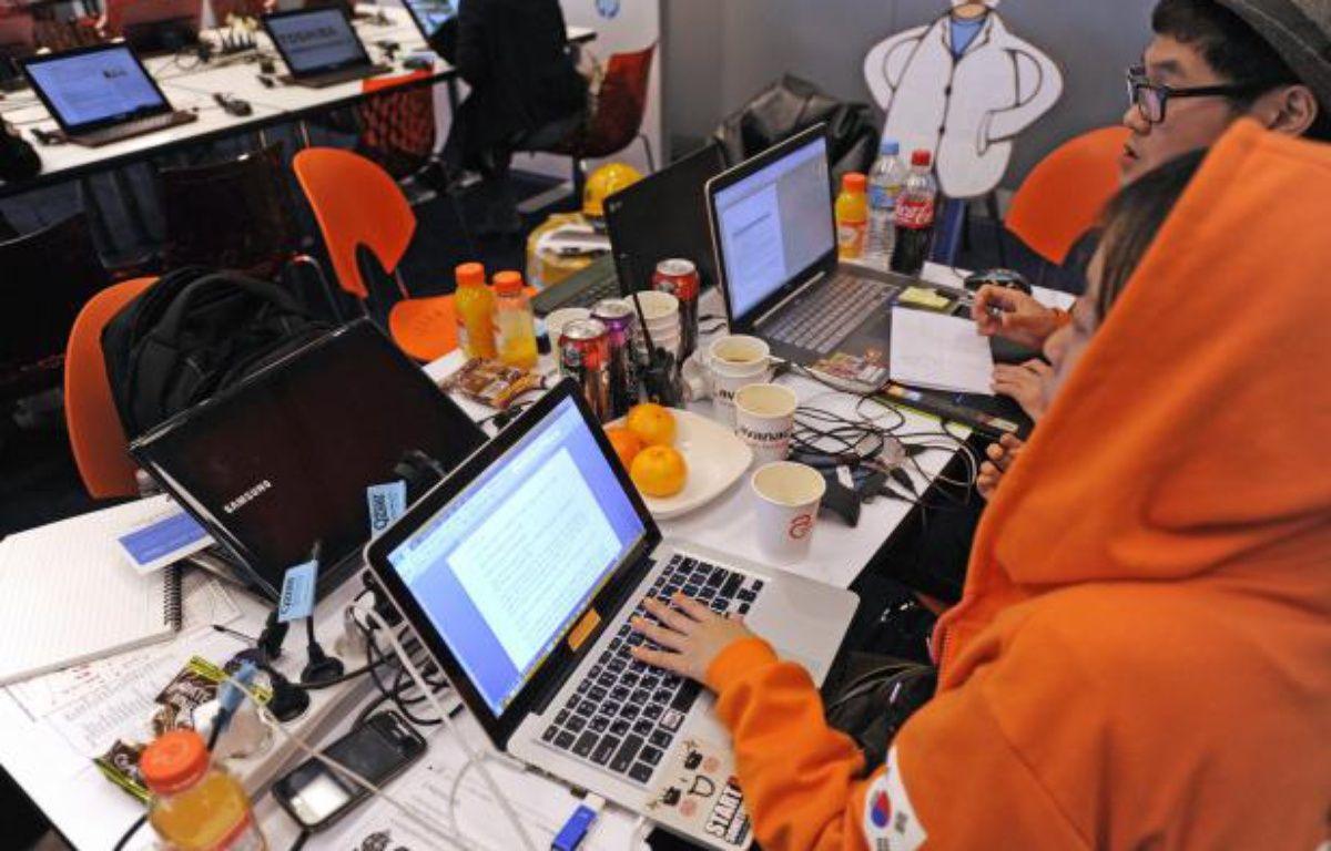 L'équipe Sud-Coréenne peaufine son projet pour la finale de l'Imagine Cup 2012 à Sydney en Australie. – MICROSOFT