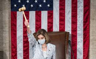 Nancy Pelosi ouvrant le 117e Congres, à Washington le 3 janvier 2021.