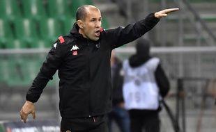 Leonardo Jardim, ici dans le Chaudron lors de cette défaite qu'il a tant de mal à digérer contre l'ASSE (1-0). PHILIPPE DESMAZES