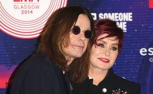Le chanteur Ozzy Osbourne et sa femme, l'animatrice Sharon Osbourne