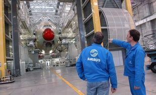 Sur une chaîne d'assemblage d'Airbus à Toulouse (illustration).