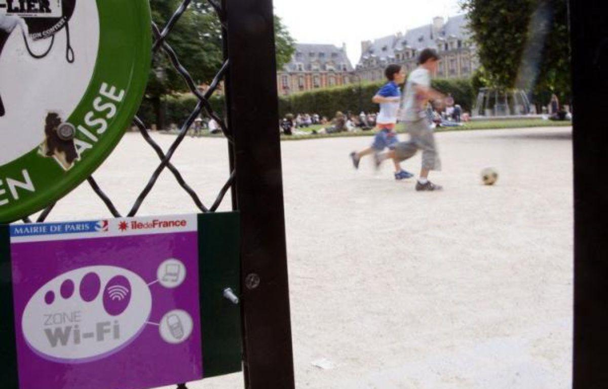 Un parc équipé de wifi. – Pierre Verdy afp.com