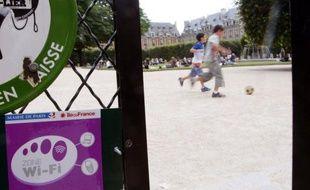 Un parc équipé de wifi.