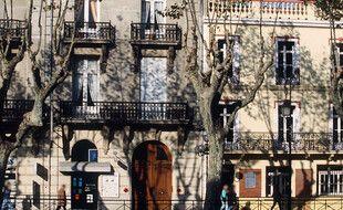 Une rue, à Perpignan (illustration)