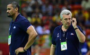 Didier Dinart (à gauche) et Claude Onesta, à Rio