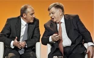 Didier Lombard ( à dr.) avait déjà cédé les rênes opérationnelles de France Télécom l'an dernier à Stéphane Richard (à g.).