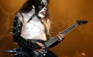 """""""Abbath"""" chanteur et guitariste du groupe de Black-Metal norvegien 'Immortal' au Wacken Open Air Festival en Allemagne, le 04 aout 2007."""