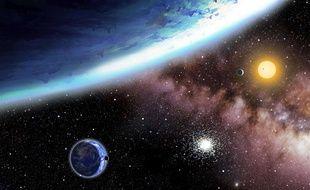 Vue d'artiste de planètes extra-terrestres.