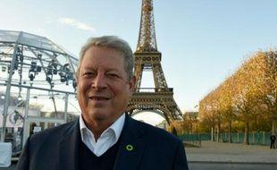 Al Gore, prix Nobel de la paix en 2007 avec le Giec, à Paris le 13 novembre 2015