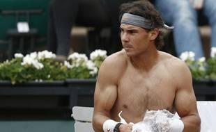 Rafael Nadal à Roland-Garros, le 31 mai 2013.
