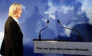 Marine Le Pen lance sa campagne pour les élections législatives à Hénin-Beaumont, le 14 mai 2012.
