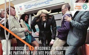 La saison 2 de la campagne «Restons civils sur toute la ligne», lancée par la RATP en 2012