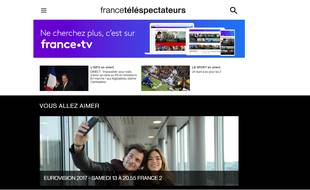 Capture d'écran du site «France.Tv»