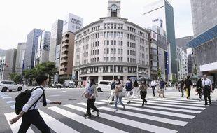 Le quartier de Ginza à Tokyo, le 25 mai 2020.
