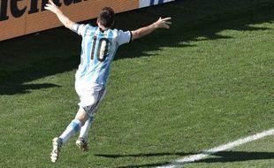 L'Argentin Lionel Messi, le 1er juillet 2014, à Sao Paulo contre la Suisse.