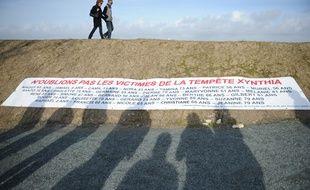 LA FAUTE SUR MER, le 20/02/2011La commune sinistrée, un an après la tempête Xynthia
