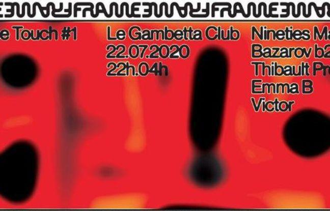 Visuel psychédélique pour la soirée FRAMEtouch du Gambetta Club