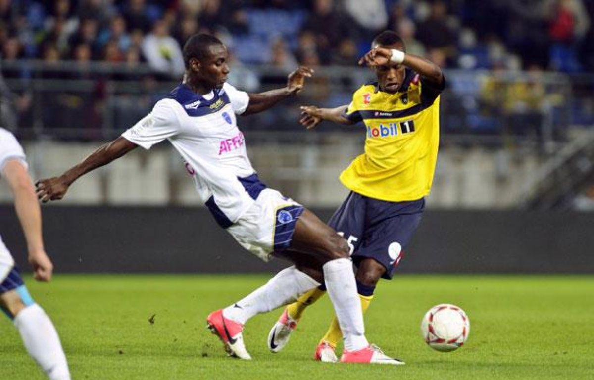 Le Troyen Fabrice Nsakala, le 22 septembre 2012, à Sochaux. – SEBASTIEN BOZON / AFP