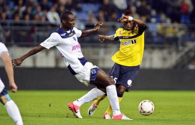 Le Troyen Fabrice Nsakala, le 22 septembre 2012, à Sochaux.
