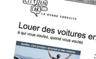 Le site citizencar, ouvert en janvier.