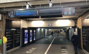 Le souterrain de la gare SNCF de Nantes