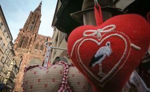 Ils déclarent leur flamme à Strasbourg, à l'occasion de la Saint-Valentin.