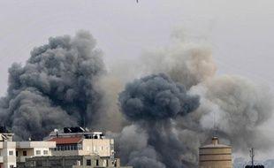 Frappe aérienne israélienne sur Gaza, le 21 novembre 2012.
