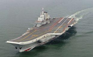 Le porte-avions de la Chine, le «Liaoning», en mai 2012.