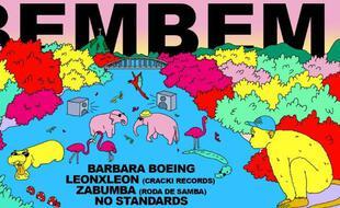 Visuel coloré et psyché pour la Bembem! du Mazette