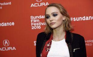 Lily-Rose Depp, en janvier au festival Sundance.
