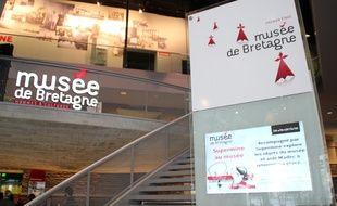 L'entrée du Musée de Bretagne aux Champs Libres.