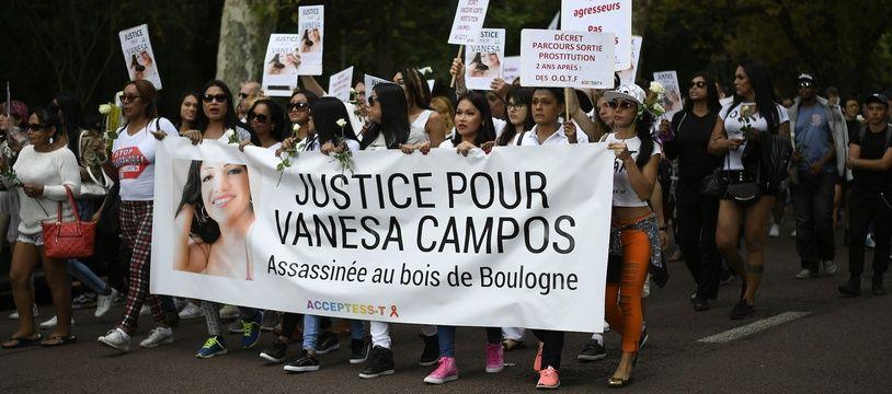 Vanesa Campos, une travailleuse du sexe de 36 ans d'origine péruvienne, a été tuée par plusieurs hommes dans la nuit du 16 au 17 août 2018 au Bois de Boulogne.