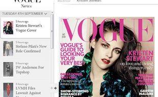 La couverture du numéro d'octobre 2012 de Vogue UK.