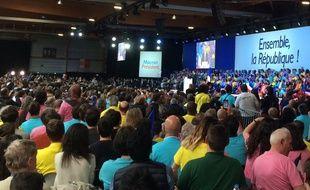 Au meeting d'Emmanuel Macron ce lundi 1er mai à La Villette.
