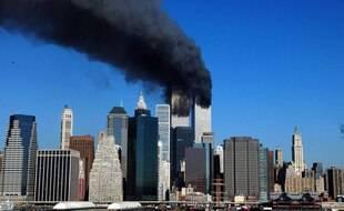 Le 11 septembre 2001 à New York, après les attentats au World Trade Center.
