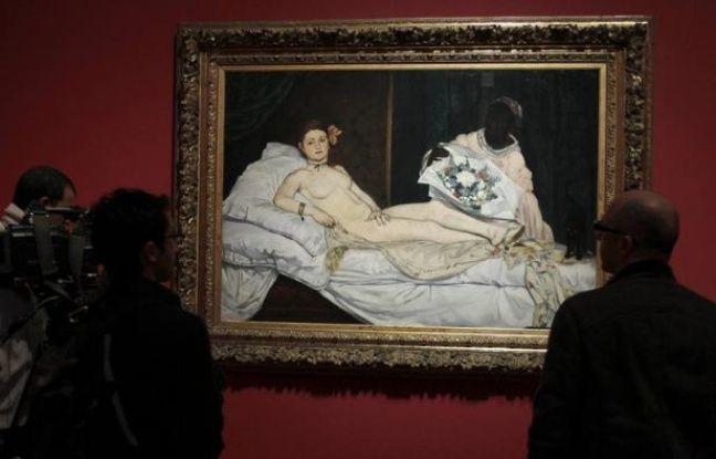 """L'""""Olympia"""" de Manet au musée d'Orsay."""