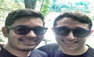 Daniel Ashley Pierce, à droite, a suscité un bel élan de générosité après avoir posté la vidéo de coming-out douloureux.