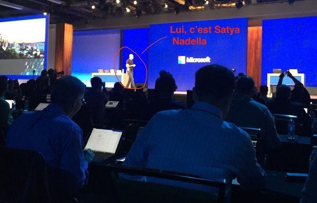 Satya Nadella à la conférence Build, le 10 mai 2017