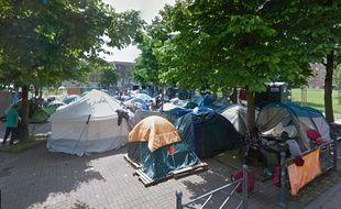 Le jardin des Olieux, à Lille, en juin 2016