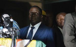Le nouvelle homme fort de l'ancienne colonie britannique Emmerson Mnangagwa le 22 novembre 2017 à Harare.