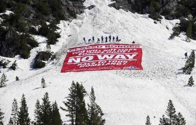 Hautes-Alpes: Génération Identitaire devant la justice après son opération médiatique «anti-migrants»