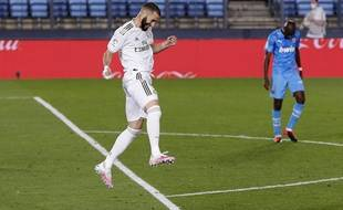 Karim Benzema a inscrit un doublé contre Valence, le 18 juin 2020.