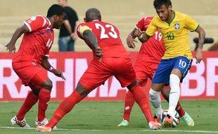 L'attaquant du Brésil Neymar, le 3 juin 2014, contre le Panama.