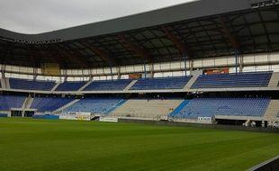 Le secteur le plus actif du stade Bonal n'a donc plus de siège pour la sécurité de ses supporters, toujours debout à cet endroit.